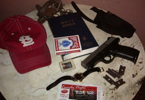 GUN AND BIBLE - Nathan Allen, The Maniac of Magic - Comedian Magician Entertainer Entertainment  - Des Moines, Iowa