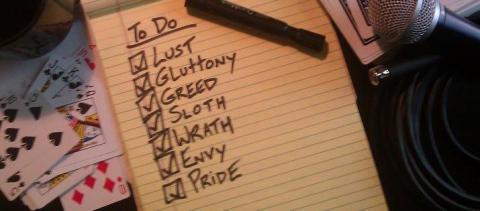 SEVEN DEADLY SINS TO DO LIST – Nathan Allen, The Maniac of Magic – Comedian Magician Entertainer Entertainment – Des Moines, Iowa