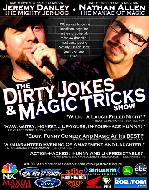 THE DIRTY JOKES AND MAGIC TRICKS SHOW poster