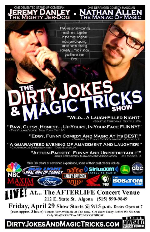 AFTERLIFE-Algona-IA-TheDirtyJokesAndMagicTricksShow-Apr29-2016