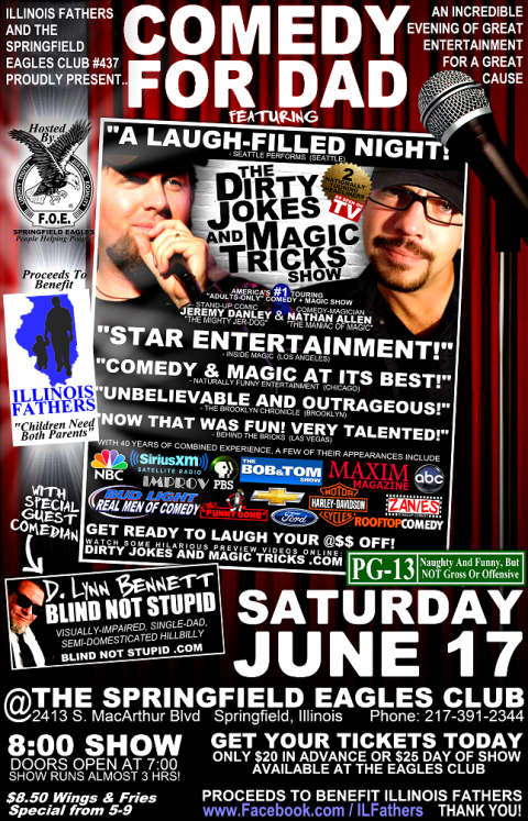 Illinois-Fathers-Springfield-IL-Eagles-Club-June-17-2017-Comedy-For-Dad